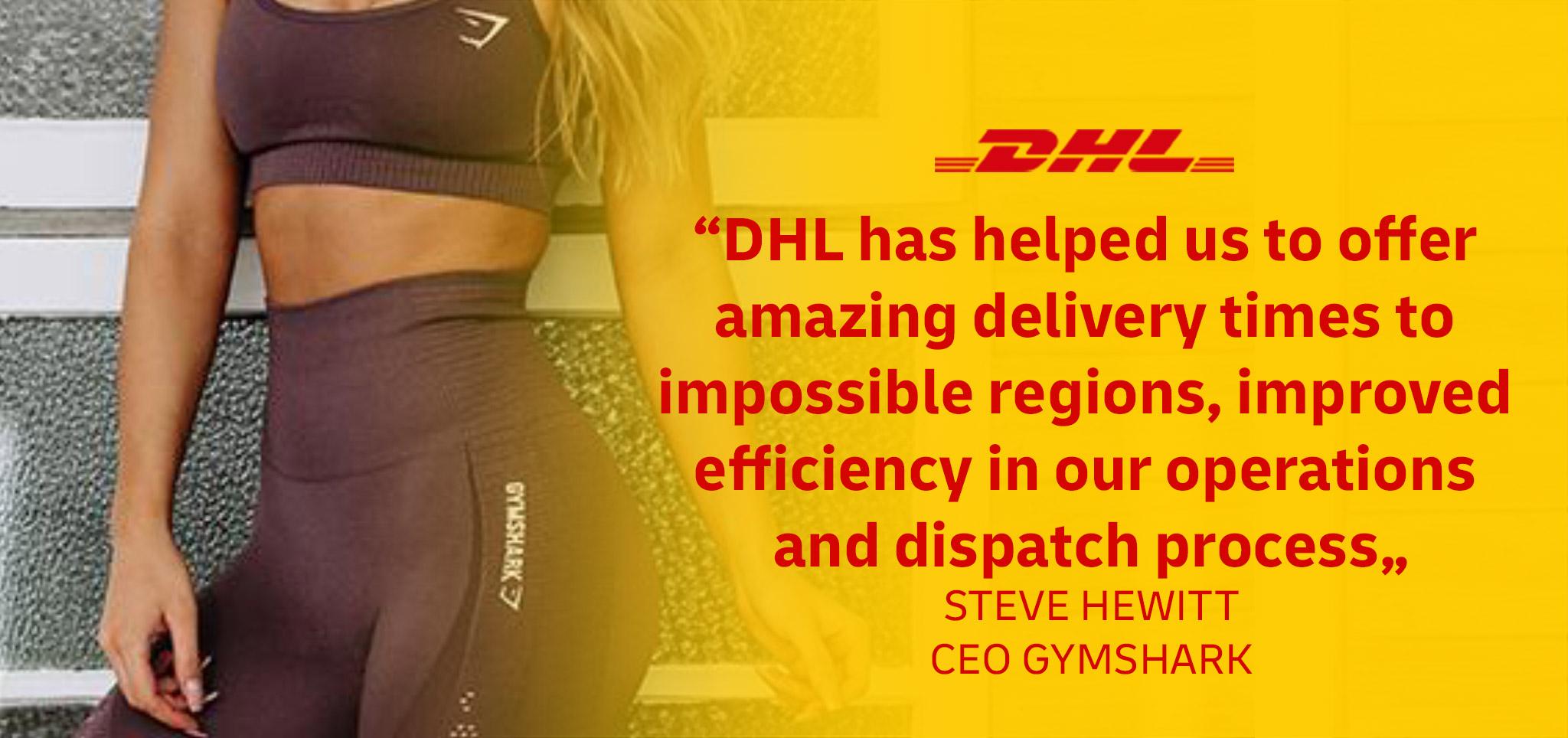 DHL Express & Gymshark testimonial